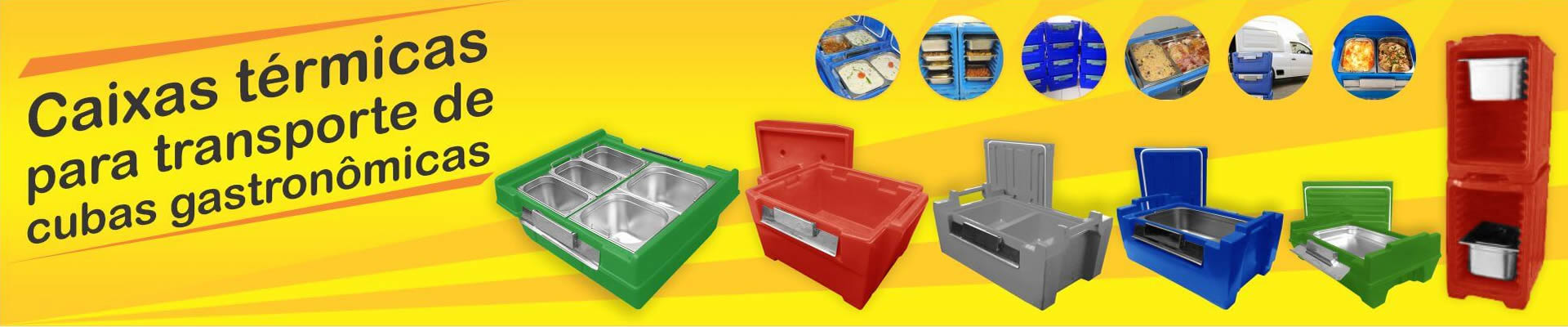 Caixas térmicas para transporte de cubas gastronômicas
